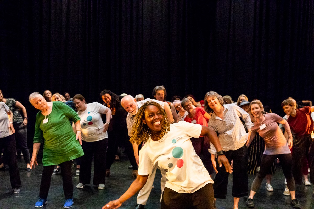 Participants dancing at the Dance to Health Conference